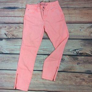 Tommy Hilfiger Skinny Ankle Crop Jeans Zipper Legs